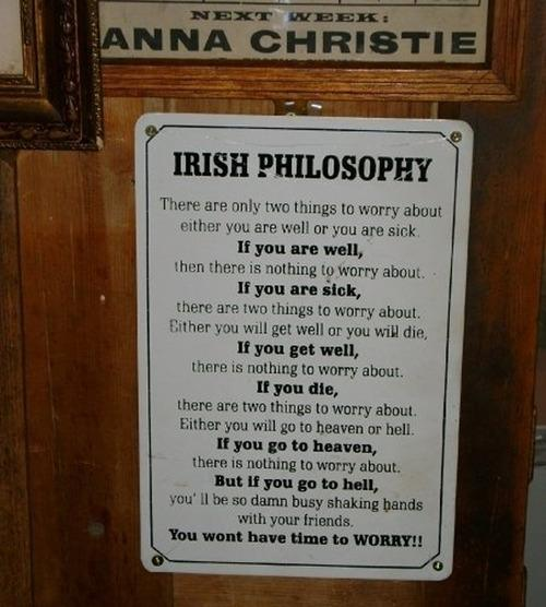 An Irish Philosophy