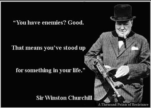 Stand up for Something - Winston Churchill Quotes - Funny Photos